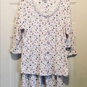 NWT Adoonna Sleepwear 2 Piece Set